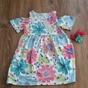 Sunshine Swing Dresses - NWT Girls Cold Shoulder Dress